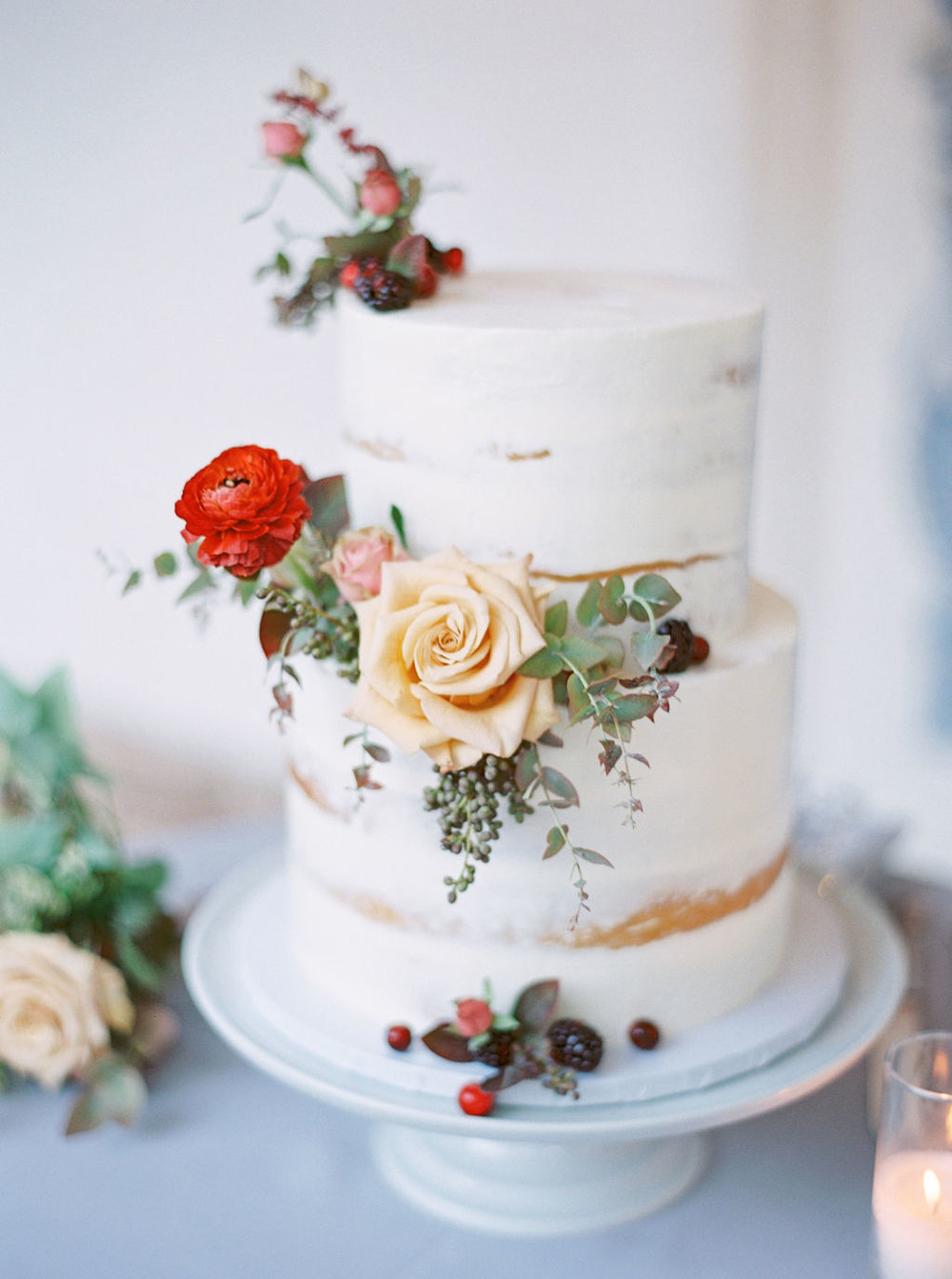 Wedding Cake Flowers by Finding Flora