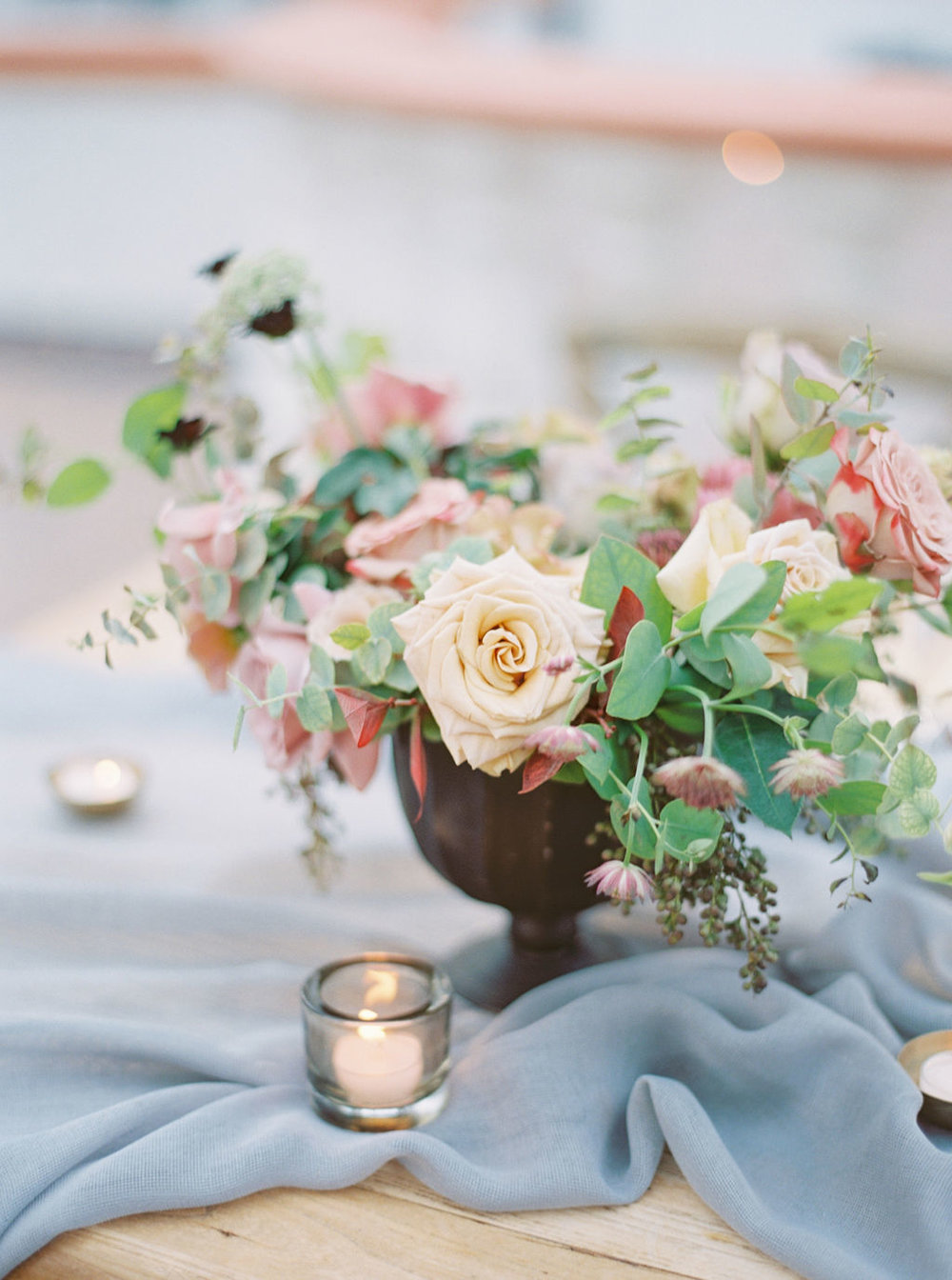 Sweetheart Table Centerpiece by Finding Flora