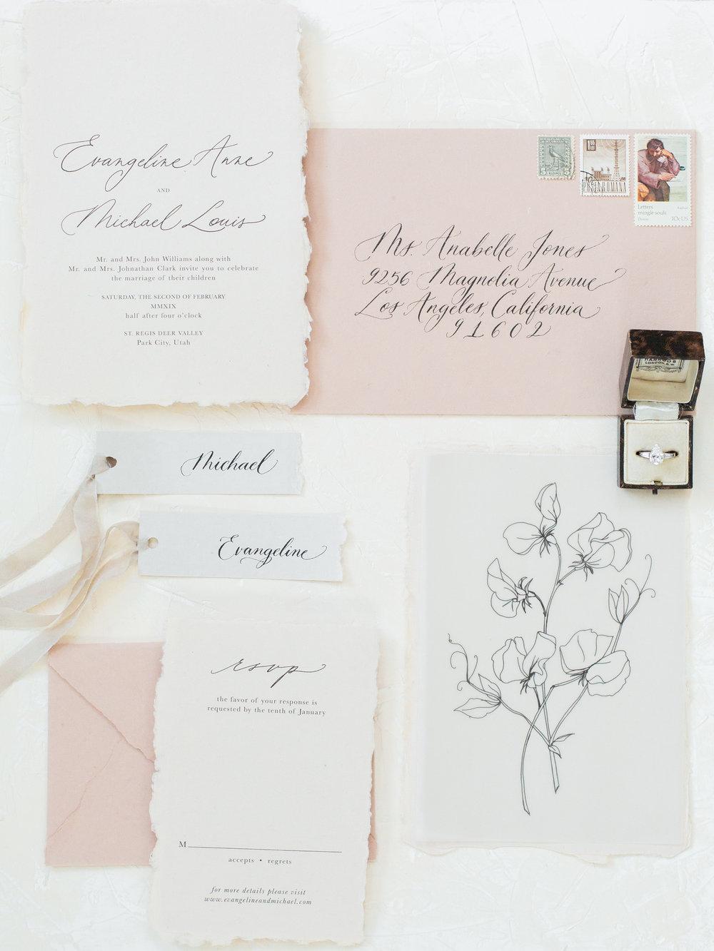 Plume & Fête - WEDDING INVITATIONS & CALLIGRAPHY