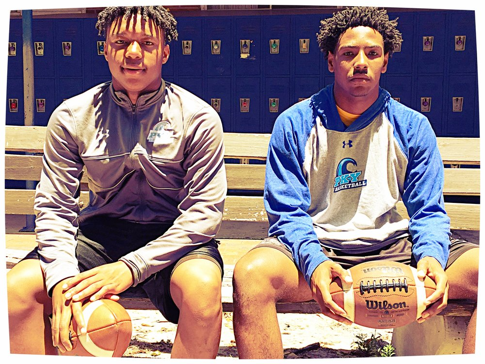 Dillon Brown (left) and Jacari Byrd are aiming to lead the Wave to wins in the fall. - #QBBattle