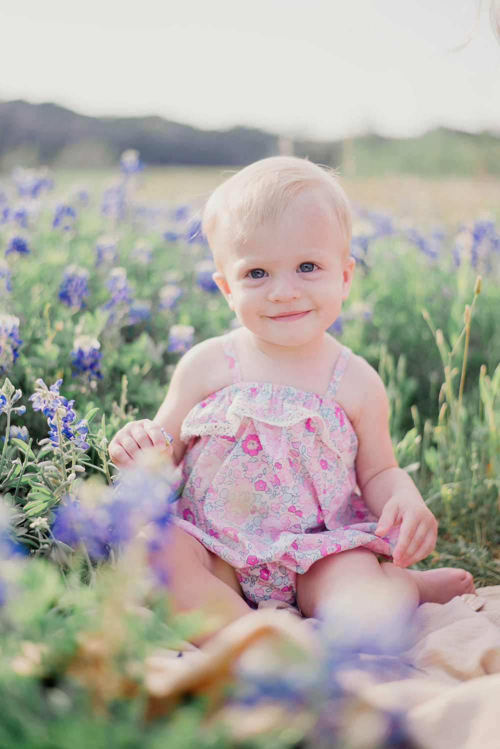 Austin Portrait Photographer First Birthday Session Texas Wildflowers Bluebonnets020.jpg