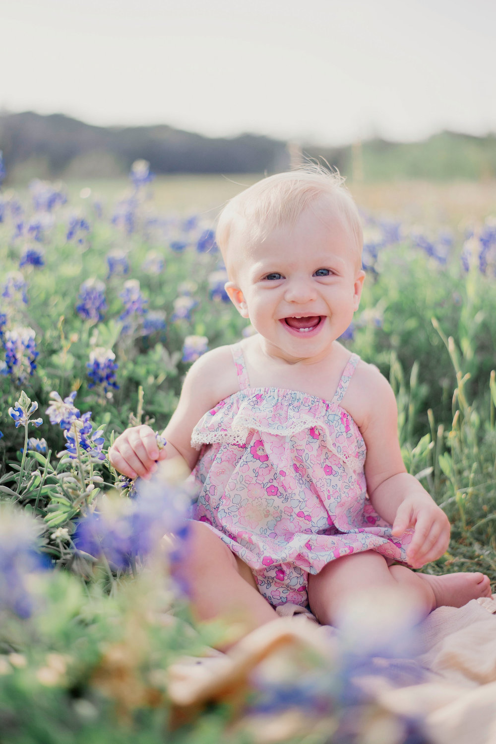 Austin Portrait Photographer First Birthday Session Texas Wildflowers Bluebonnets022.jpg