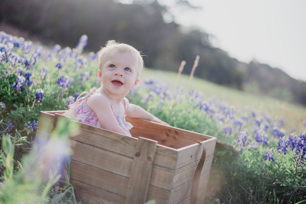 Austin Portrait Photographer First Birthday Session Texas Wildflowers Bluebonnets025.jpg