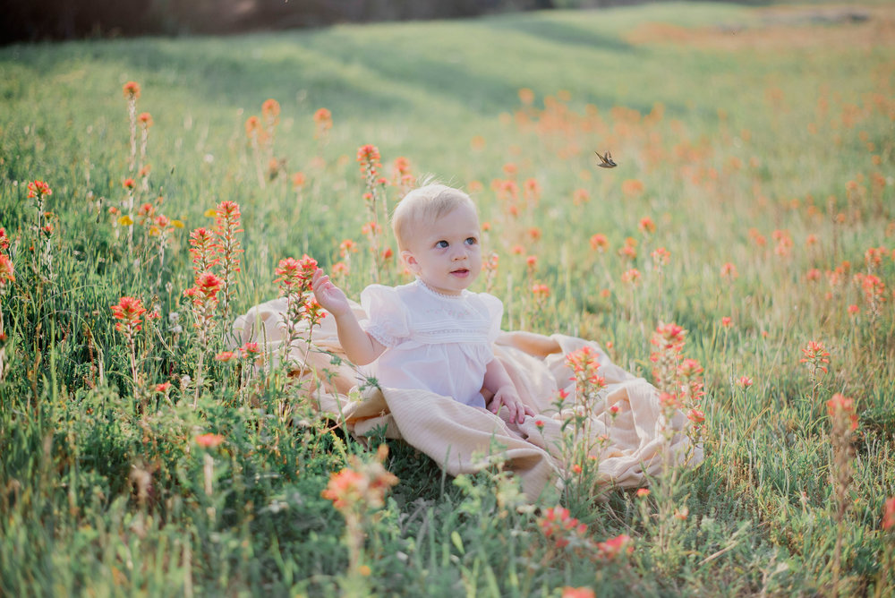 Austin Portrait Photographer First Birthday Session Texas Wildflowers Bluebonnets047.jpg