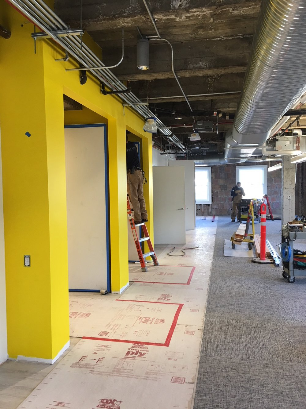A snapshot of a fast-track office build-out from shell condition.