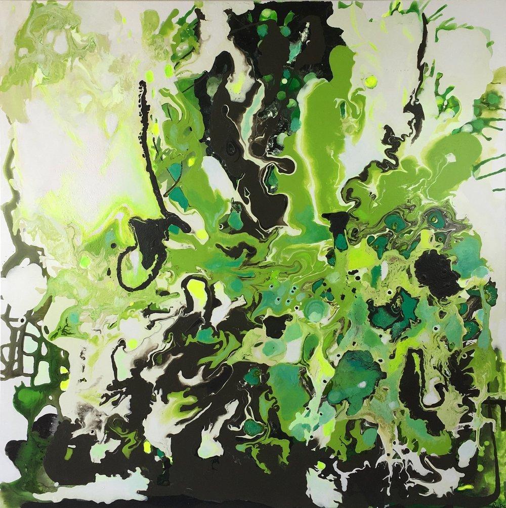 "36x36""  Acrylic on canvas  Original $655.00"