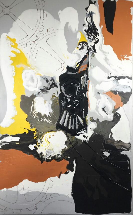 "Acrylic on canvas  30x48""  Original $850.00"