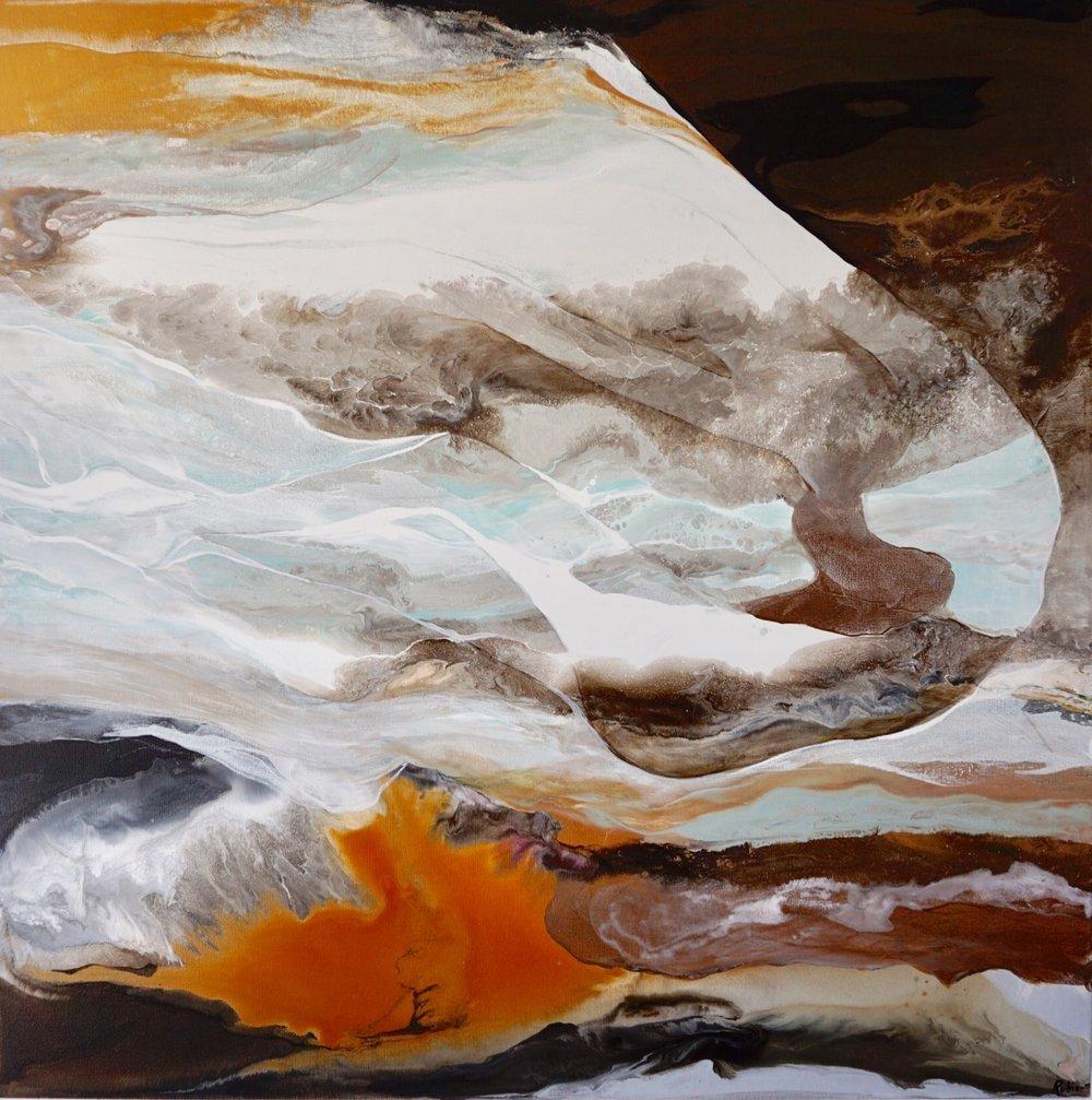 36x36''  Acrylic on canvas.  $1,100