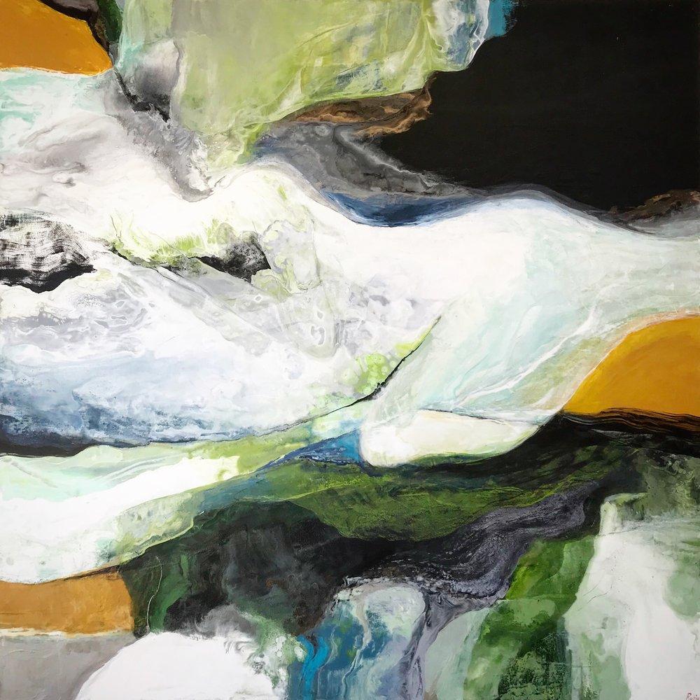 48x48''  Acrylic on canvas.  $2,300
