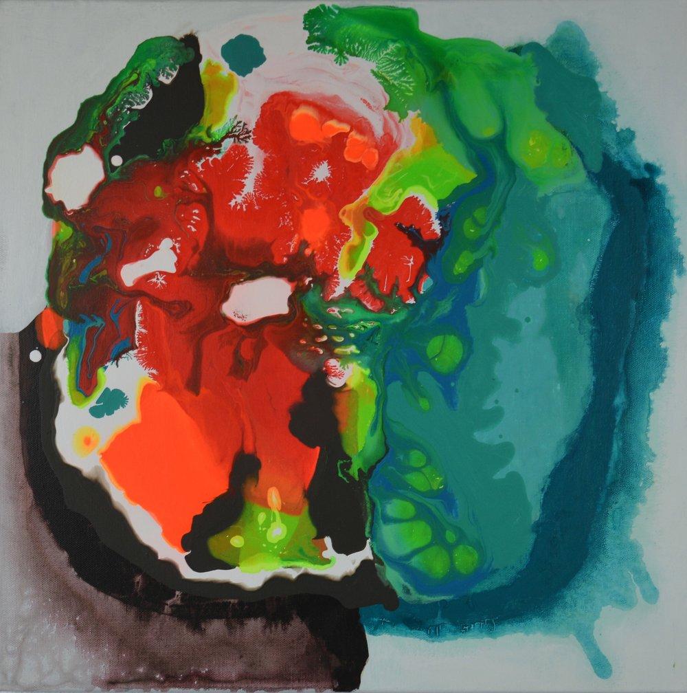 "18x18""  Acrylic on canvas  SOLD"