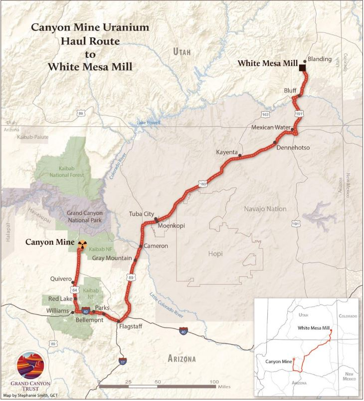 Map and picture by Stephanie Smith of the Grand Canyon Trust