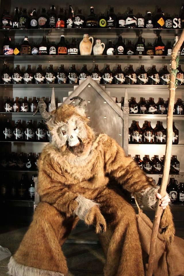 Krampus monster costume for Strange Fellows Brewery, December 2015.