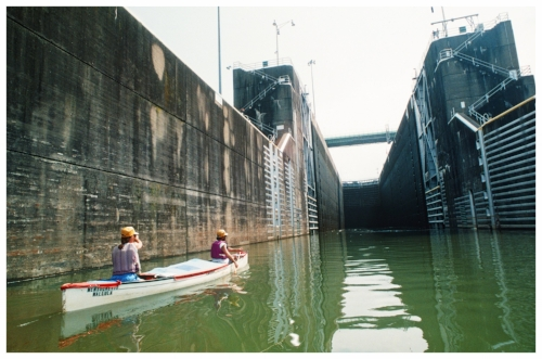Entering Fort Louden lock on the Tennessee River - a similar experience to Bonneville lock & dam recounted in the following journal excerpt.  (Photo by Knoxville News Sentinel)