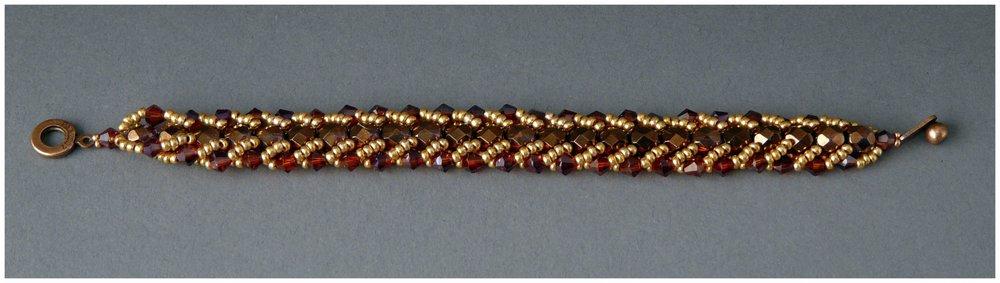 Copper Flat Spiral Bracelet
