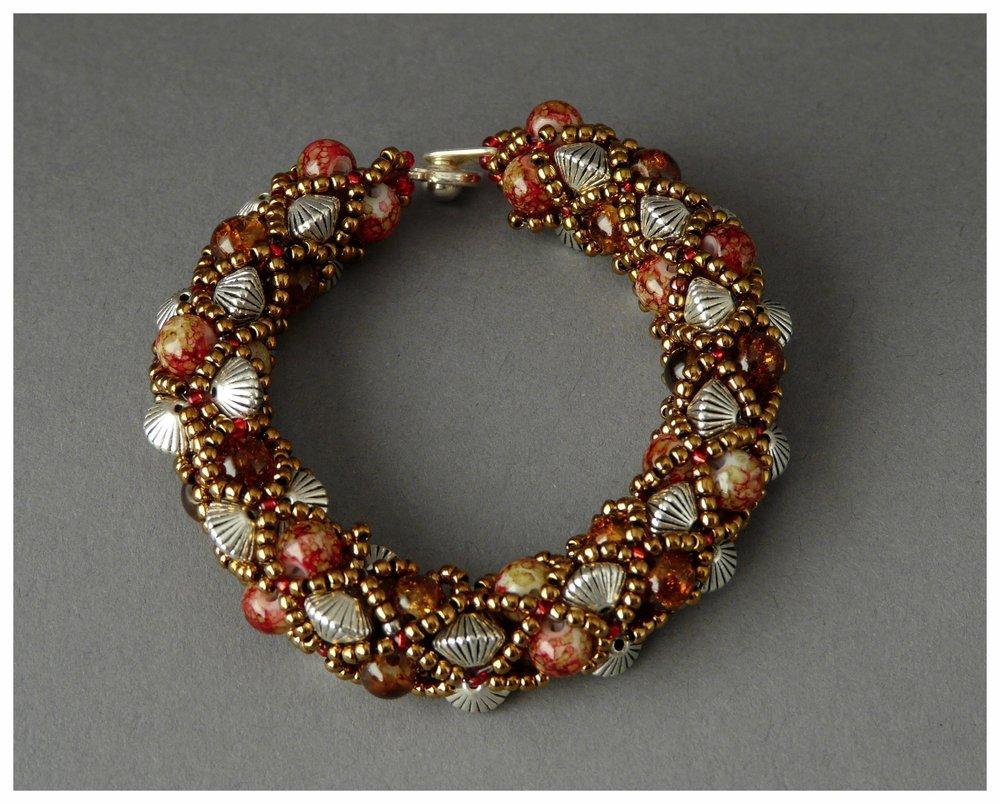 Brown Filled Bangle Bracelet
