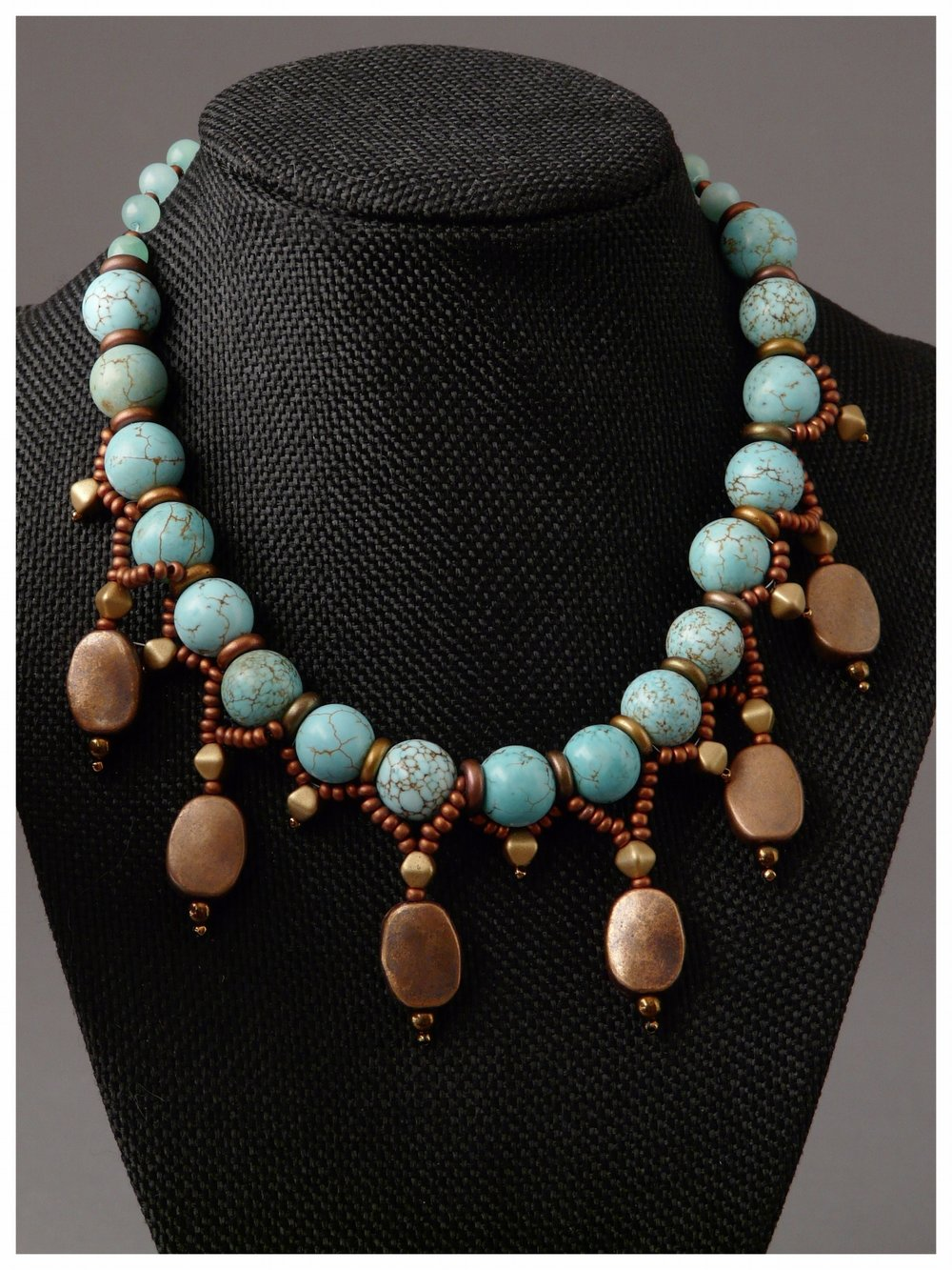Turquoise Copper Drop Necklace
