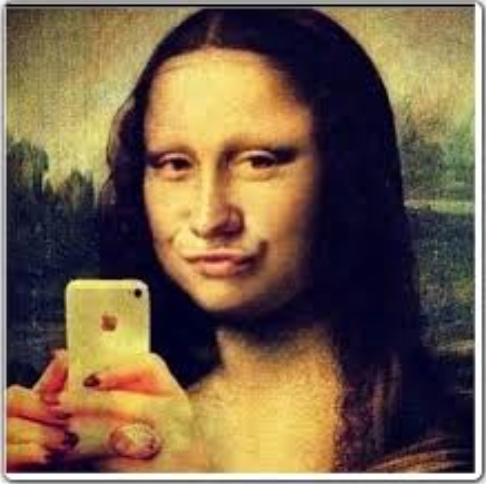 photo.mona lisa.selfie
