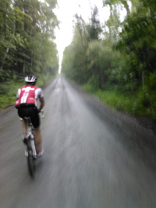 Gravel riding in the rain.