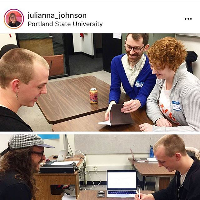 Yesterday we visited @bologna_co's thesis class at at our Alma Mater, @psugd to participate in a guest critique, and it was a blast! There's so much talent coming from this program, and we were honored to be invited back. #psugd #graphicdesign