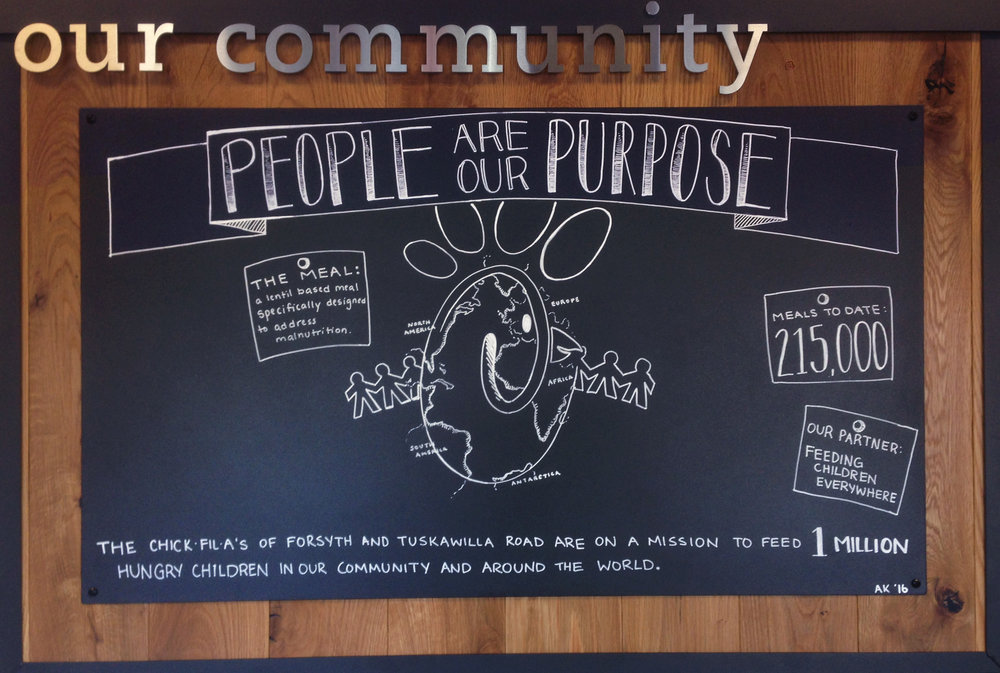 Community Board / Chick-fil-A at Forsyth Rd