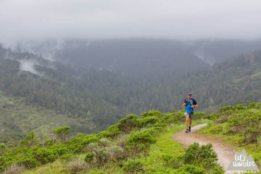 Chaz Shaya, Canyons RD, getting it done at the Marin Ultra-Challenge 50K