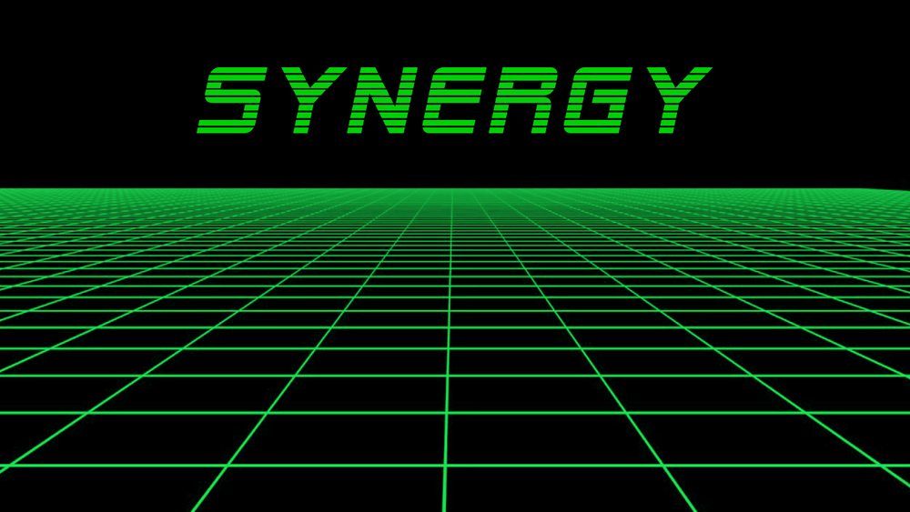 SYNERGY - A 4 PLAYER CO-OPERATIVE BOSS BATTLE GAME WHERE YOU AND 3 OTHER FRIENDS HAVE TO WORK AS A TEAM AND USE EACH OTHER'S SPECIAL ABILITIES AND WEAPONS TO FIGHT YOUR WAY TO VICTORY.