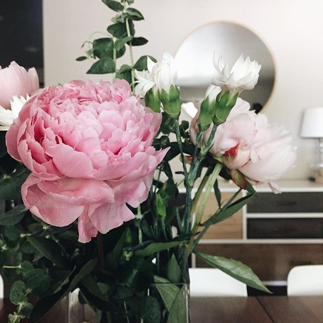 Because who doesn't need some pink peonies on a Monday morning?