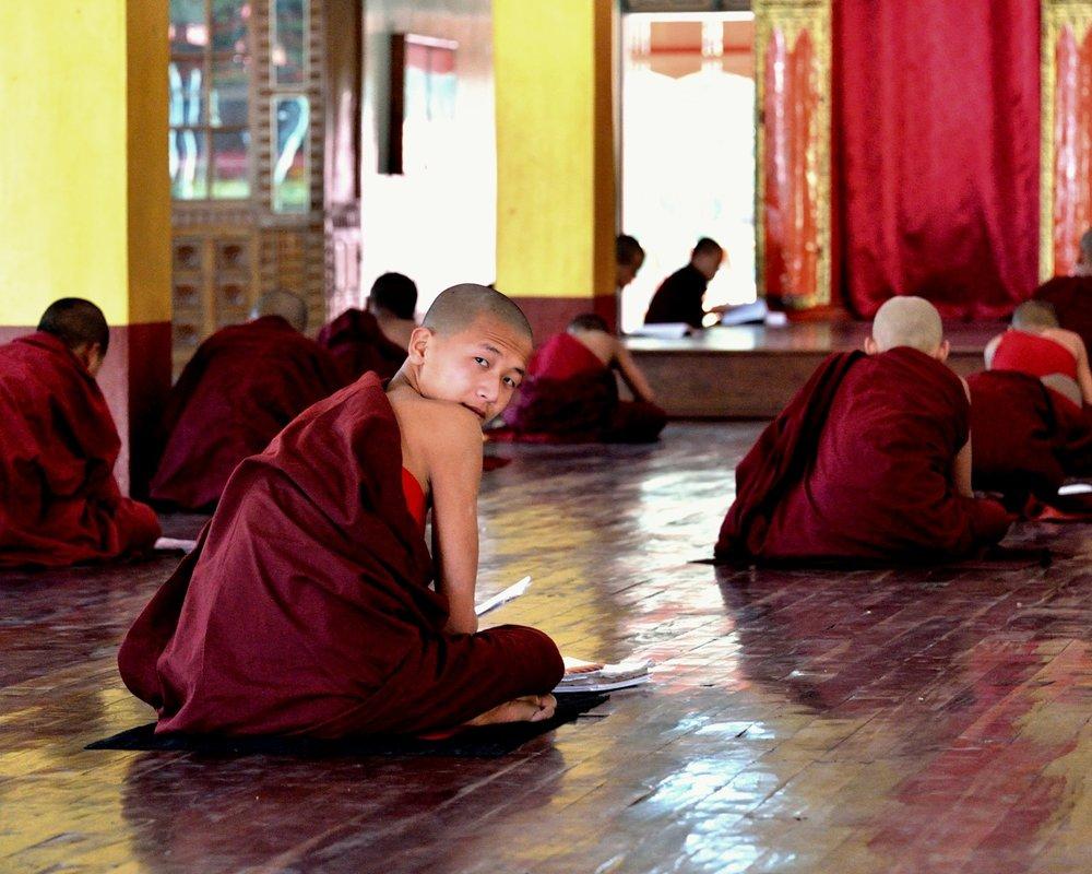 Monastery school, Inli Lake, Myanmar