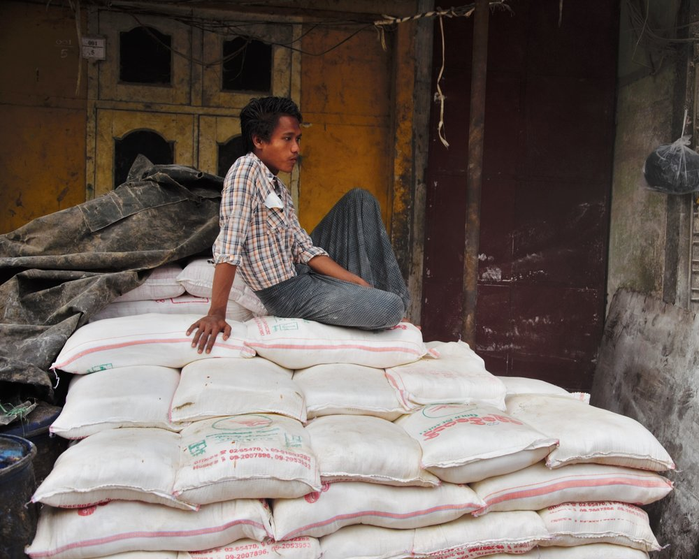 Rice merchant, Mandalay