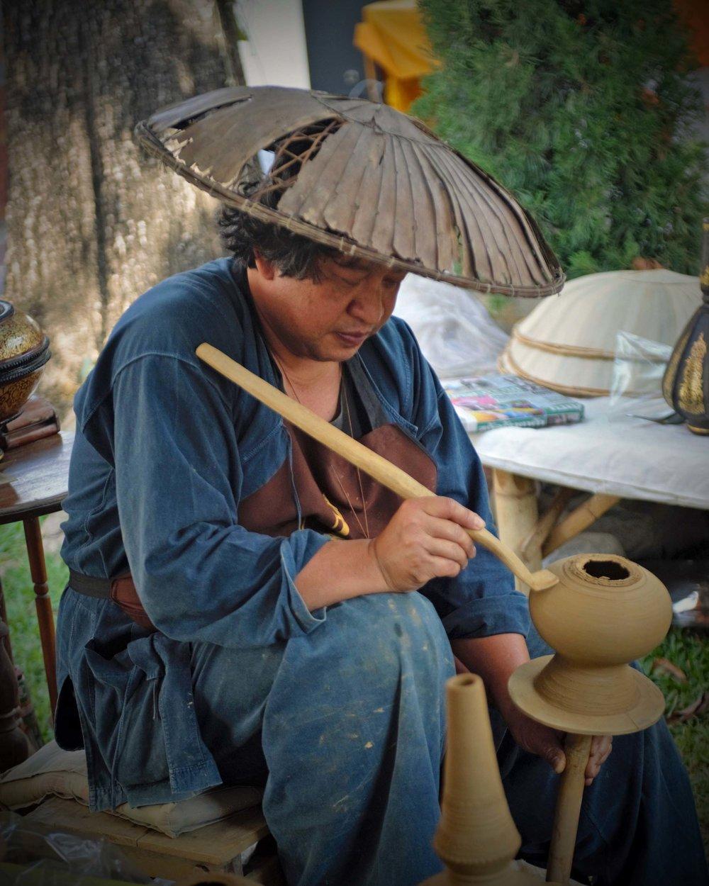 Pottery artist, Chaing Mai, Thailand
