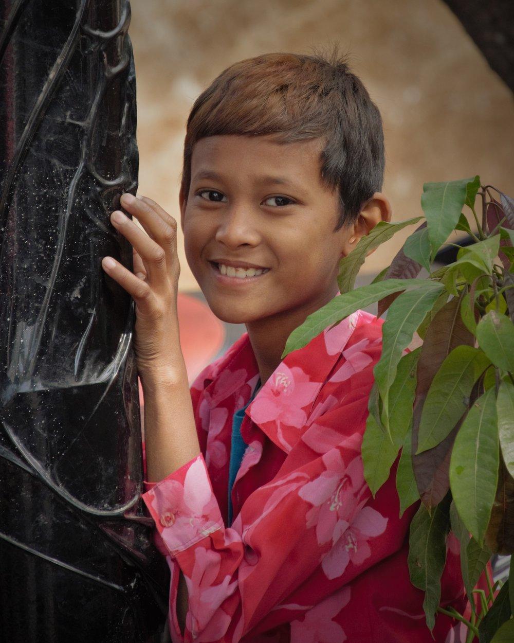 Young boy,Mandalay Myanmar
