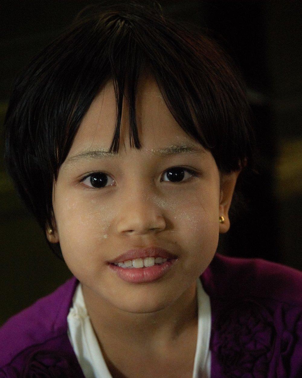 Young girl, Bagan, Myanmar