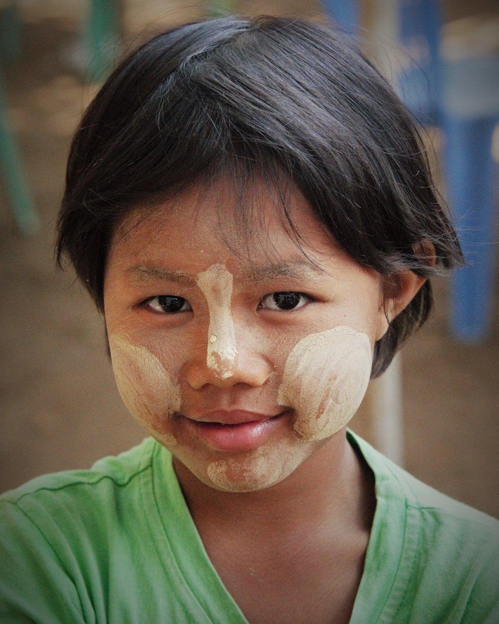 Young village girl, Bagan, Myanmar