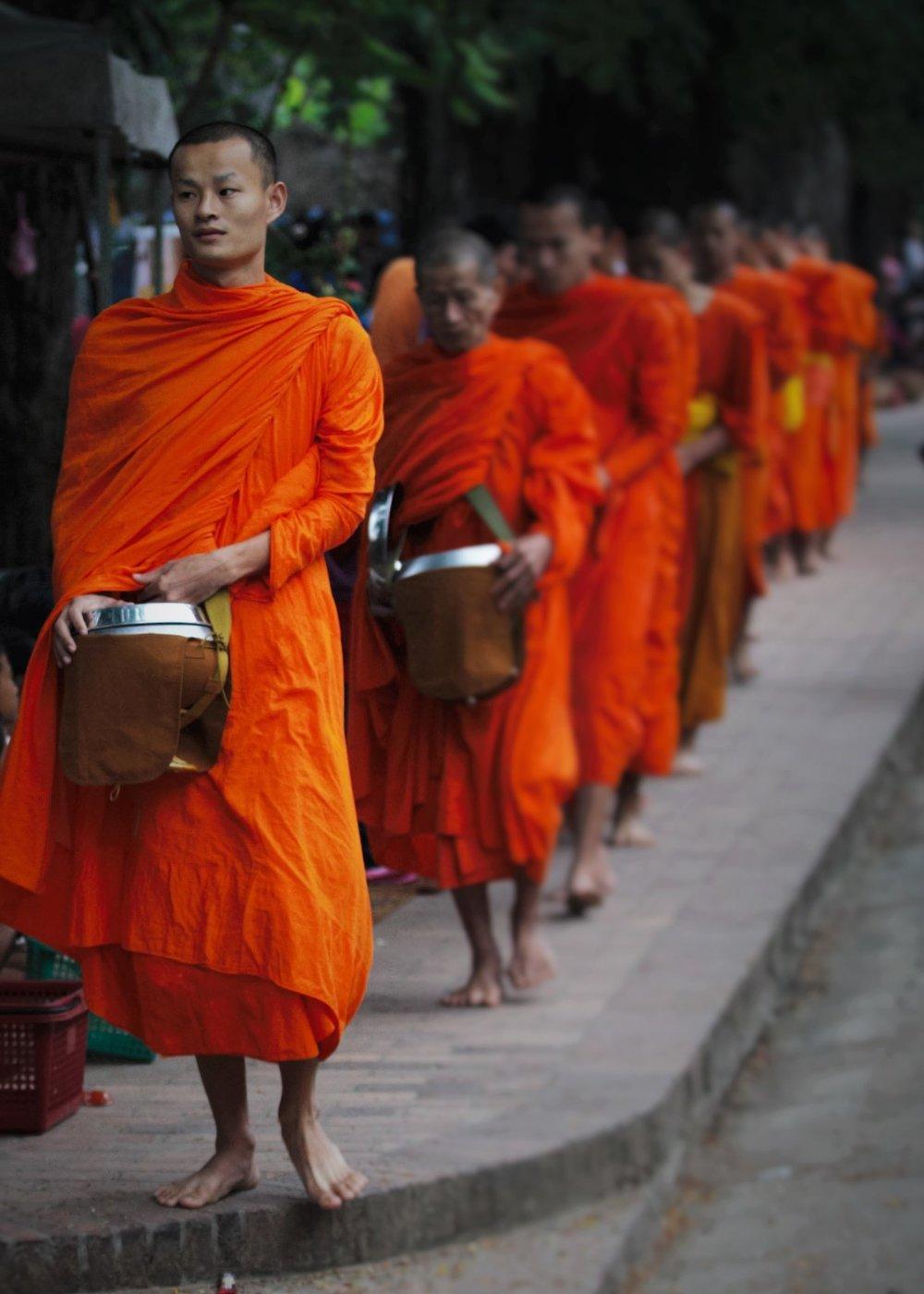 Alms round, Luang Prabang, Laos