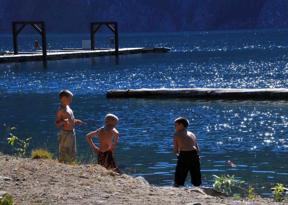 Kids of summer, Lake Chelan, Washington