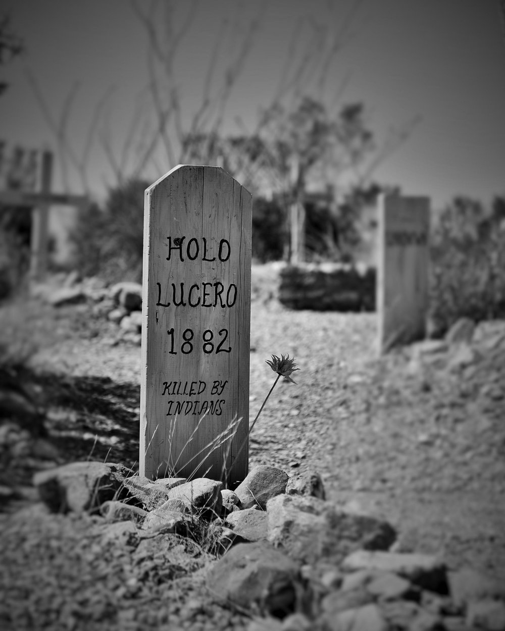 Killed by indians, Tombstone, Az.