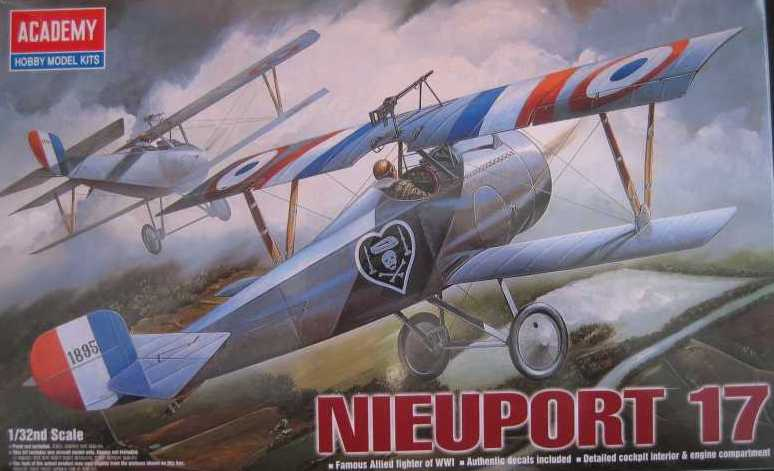 Academy Nieuport 17 in-progress 1/32 scale. Photo 1 of 2.