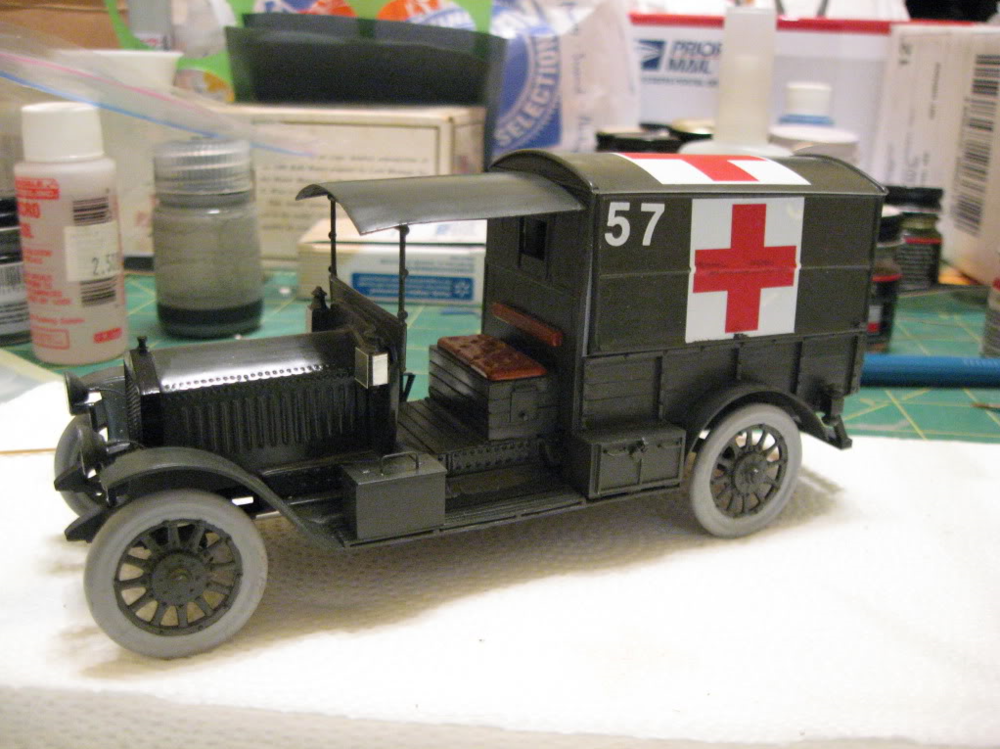 Rolls Royce AmbulanceAirfix 1/32 scale conversion. Photo 3 of 4.