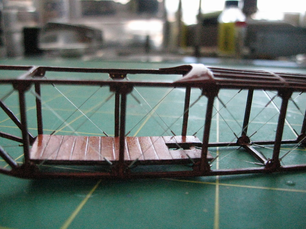 Voisin Hydroplane Scratch-build in-progress 1/32nd scale. Photo 4 of 5.
