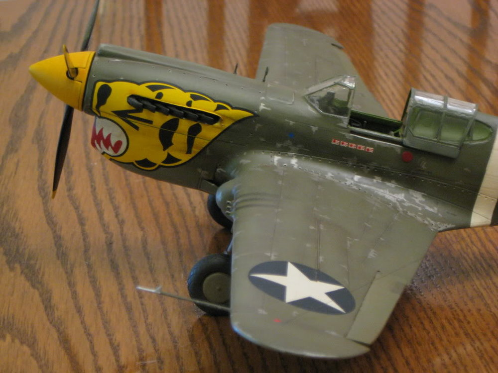 P-40E 1/32 scale. Photo 4 of 5.