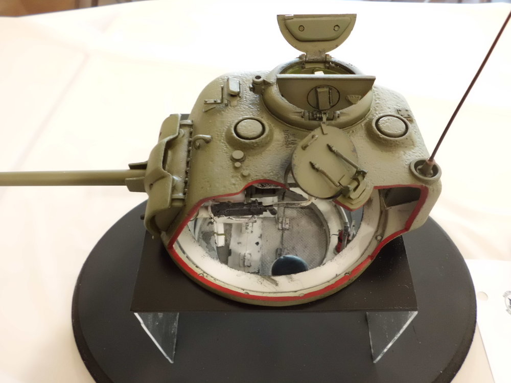 1/16 SCALE SHERMAN TANK TURRET INTERIOR