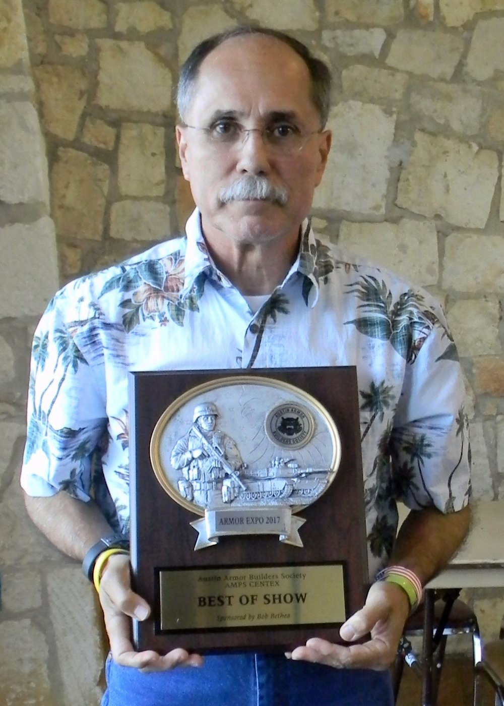 Henry Nunez - Best of Show for his Japanese WW2 Infantry figure.     Rick Herrington (AABS) photo