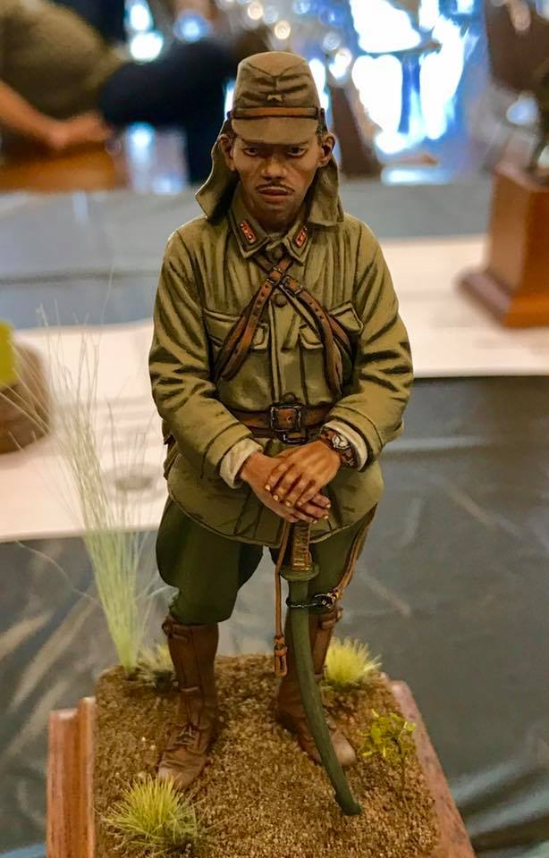 Best of Show - Japanese WW2 Infantry figure.      Rick Herrington (AABS) photo