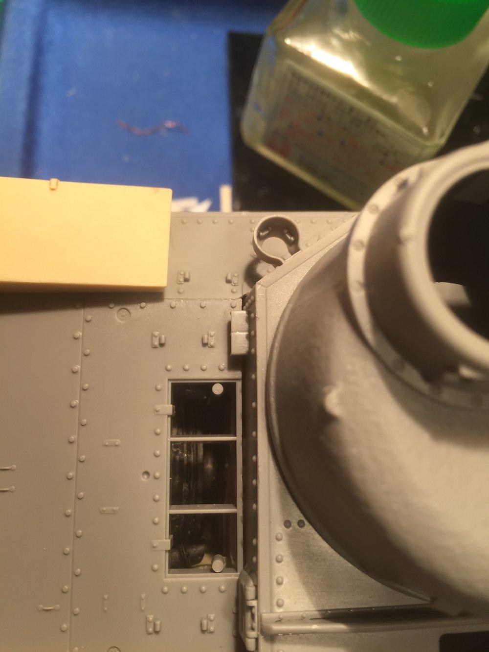 Engine detail visible through air intake.