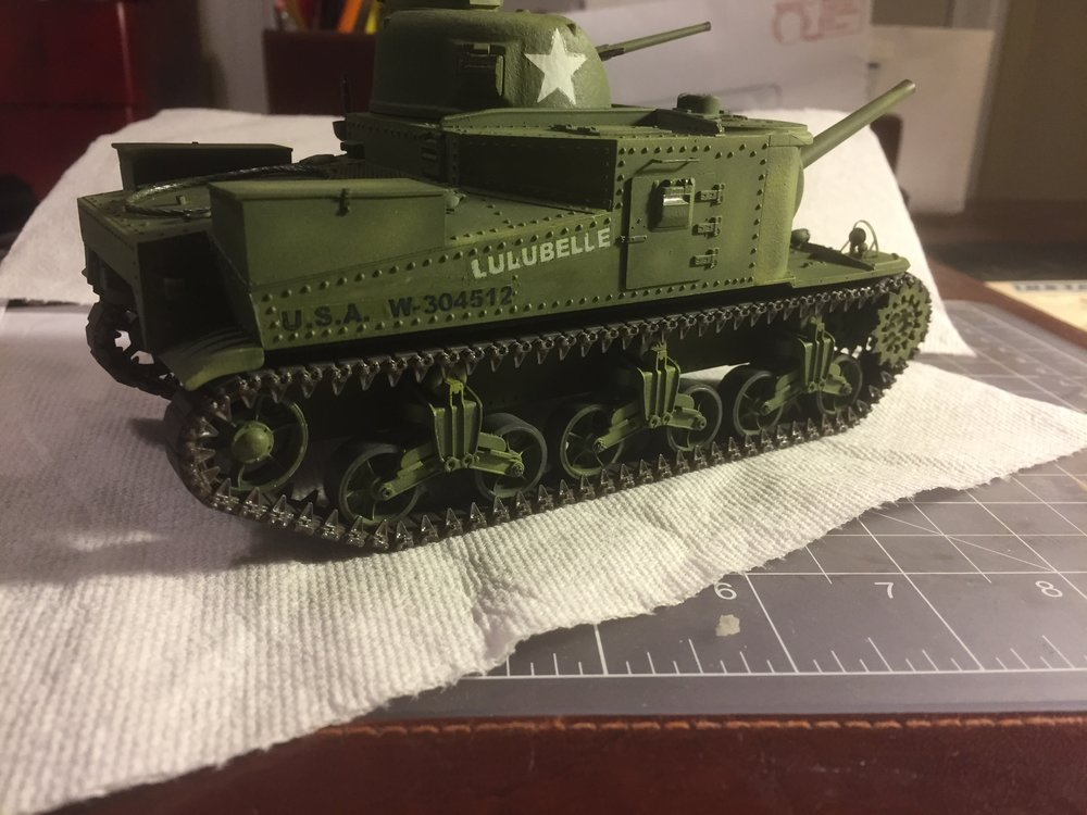 LULUBELLE decals applied, first attempt. Pic #3.
