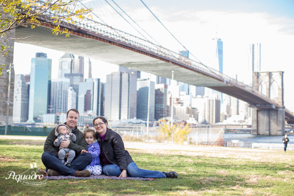 Family Photo by Brooklyn Bridge