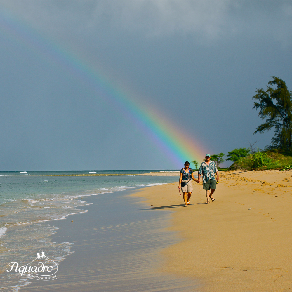 Rainbow Hawaii Beach Walk