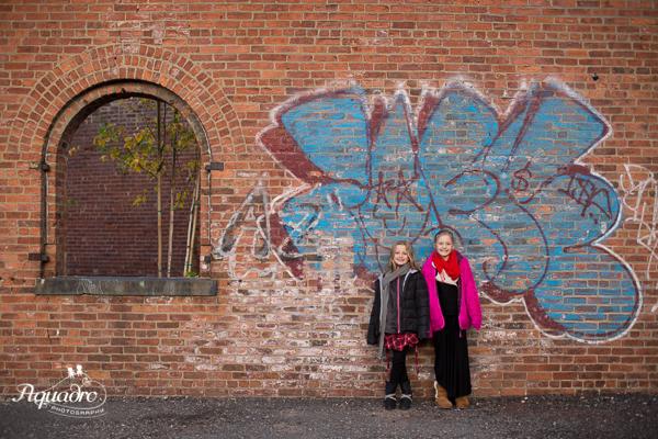 Posing By Street Art