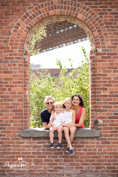 Family Framed by Brick
