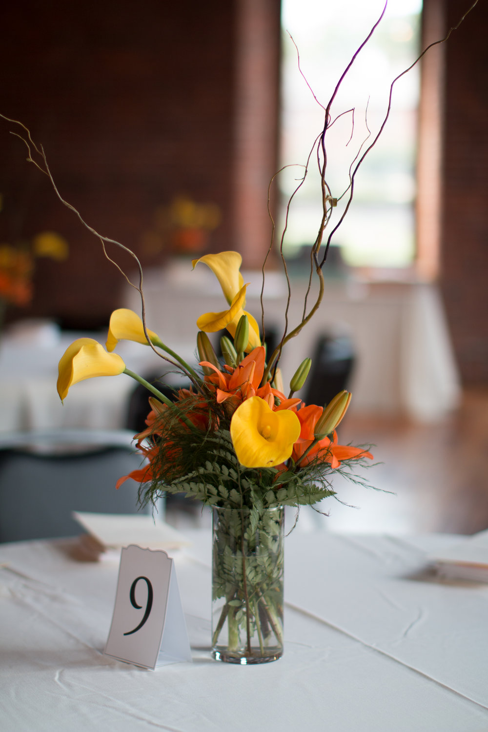 Wedding Orange and Yellow Centerpieces